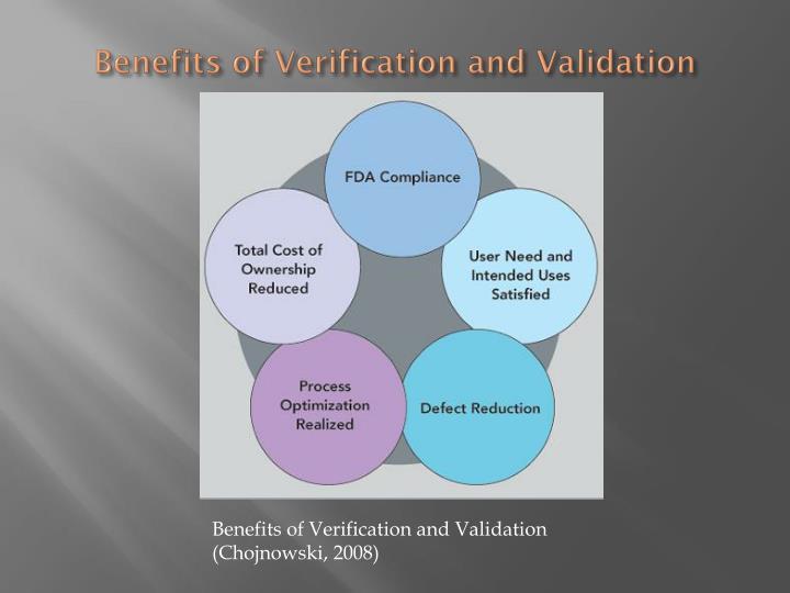 Benefits of Verification and Validation