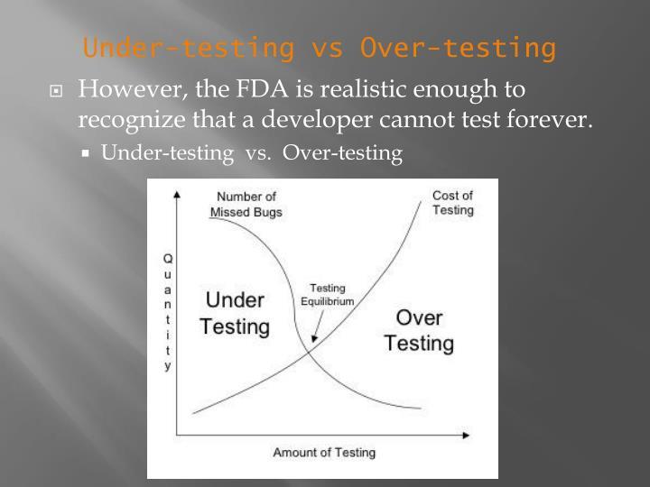 Under-testing