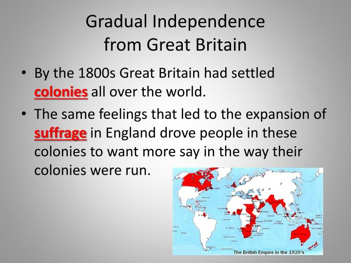Gradual Independence