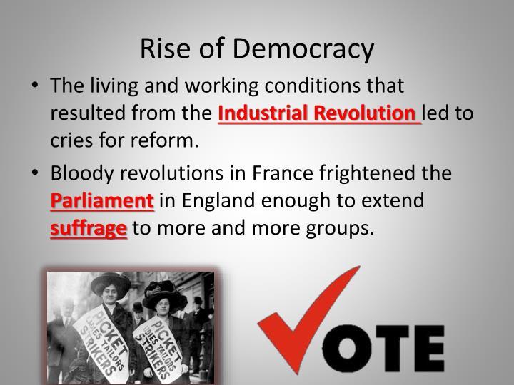 Rise of democracy