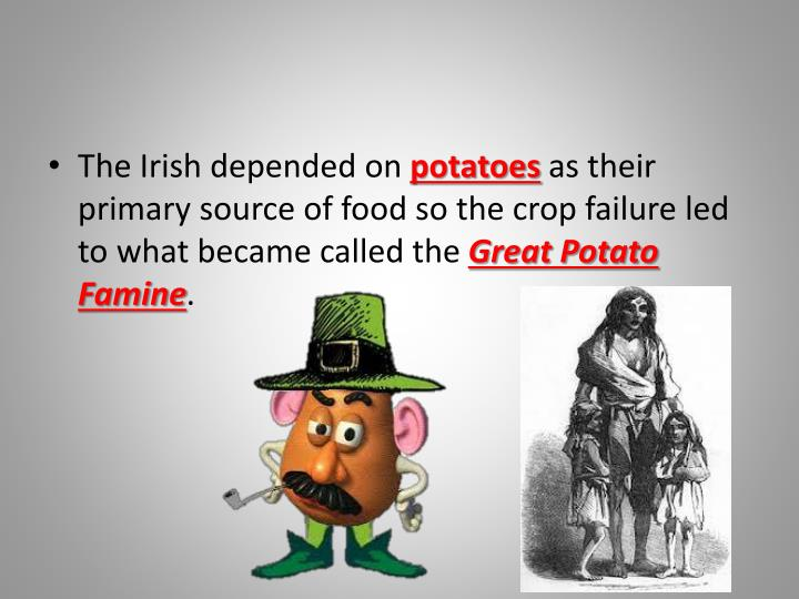 The Irish depended on