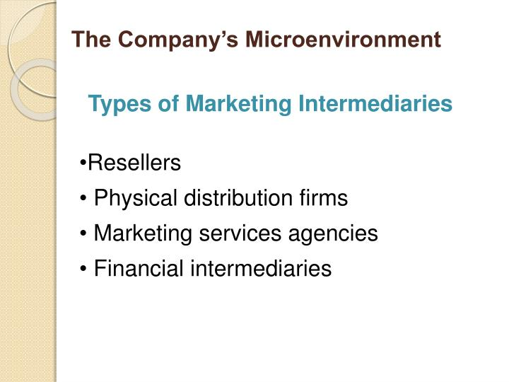The Company's Microenvironment