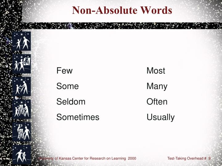 Non-Absolute Words