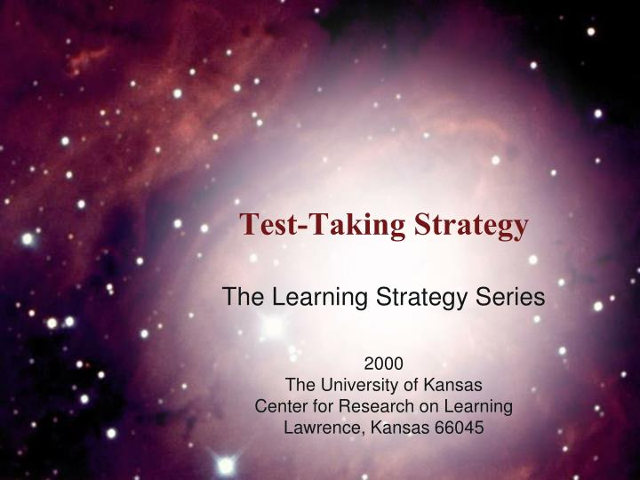 Test taking strategy