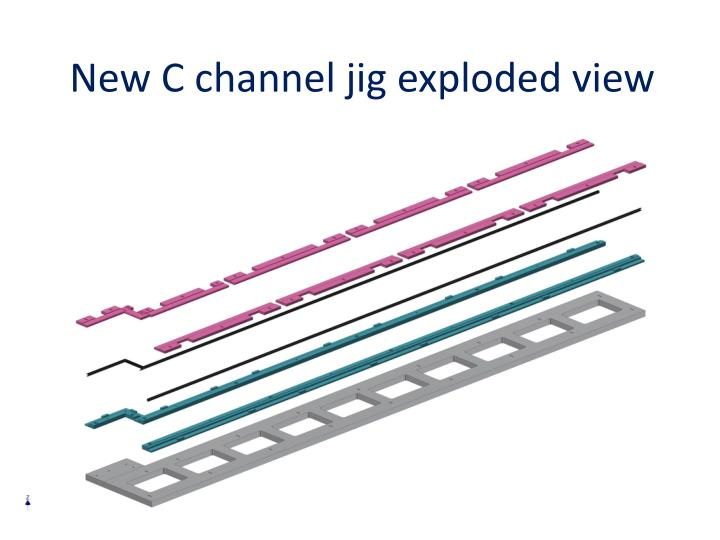 New c channel jig exploded view