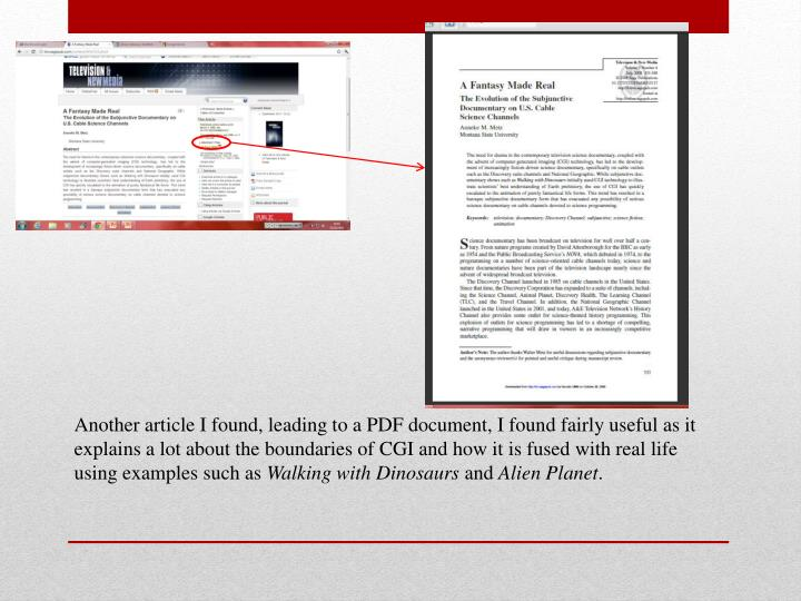 Another article I found, leading to a PDF document, I found fairly useful as it explains a lot about...