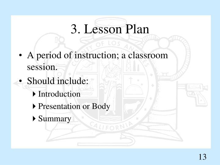 3. Lesson