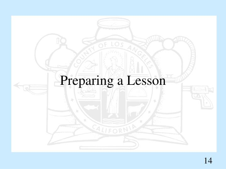 Preparing a Lesson