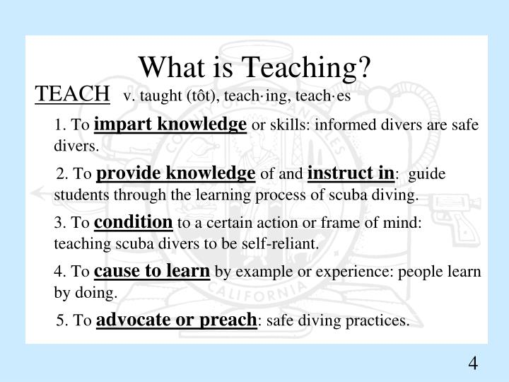 What is Teaching?