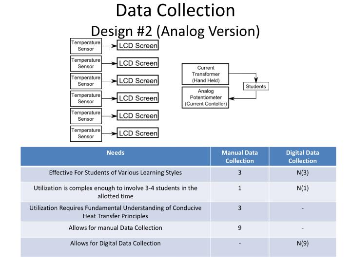 Data collection design 2 analog version