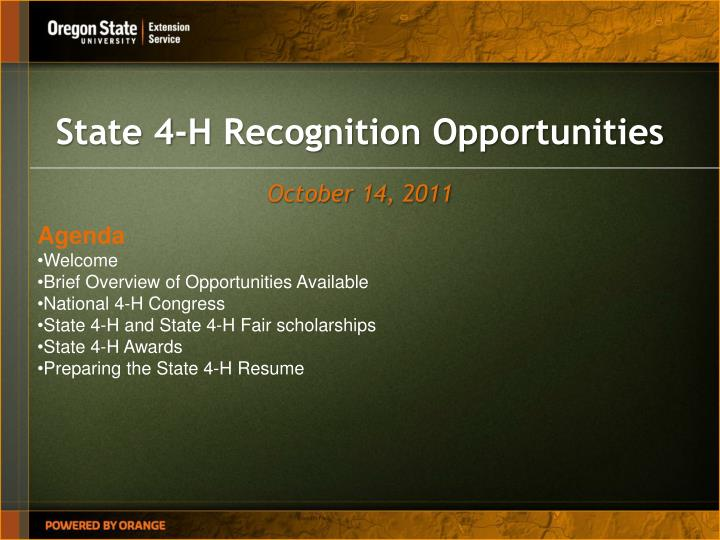 ppt state 4 h recognition opportunities powerpoint presentation