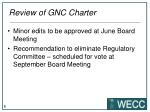 review of gnc charter
