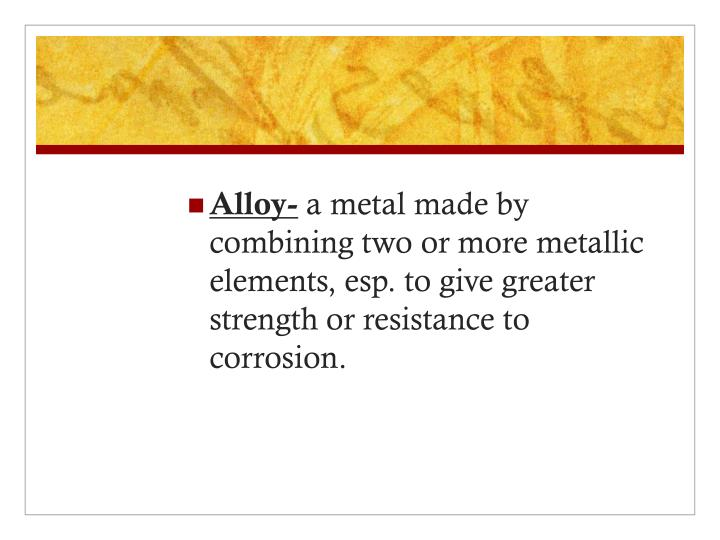 Alloy-