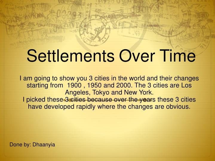 settlements over time n.