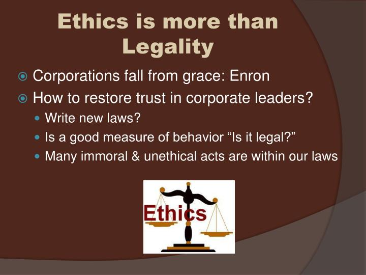unethical behavior at enron This paper examines the influence of organizational culture on ethical behavior by considering two separate corporate case studies: enron and zapposresearch shows that organizational culture is a primary driver in employee behavior and that leaders shape this behavior.