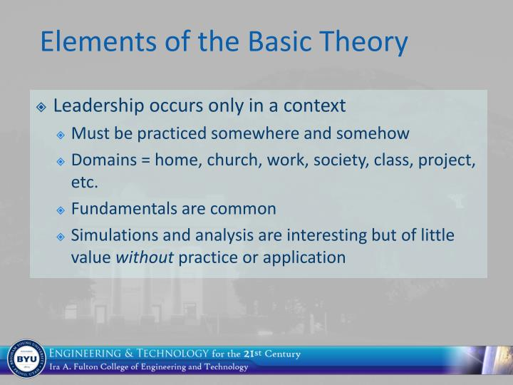 Elements of the Basic Theory