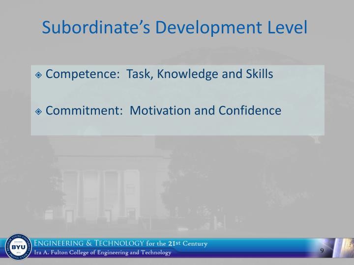 Subordinate's Development Level
