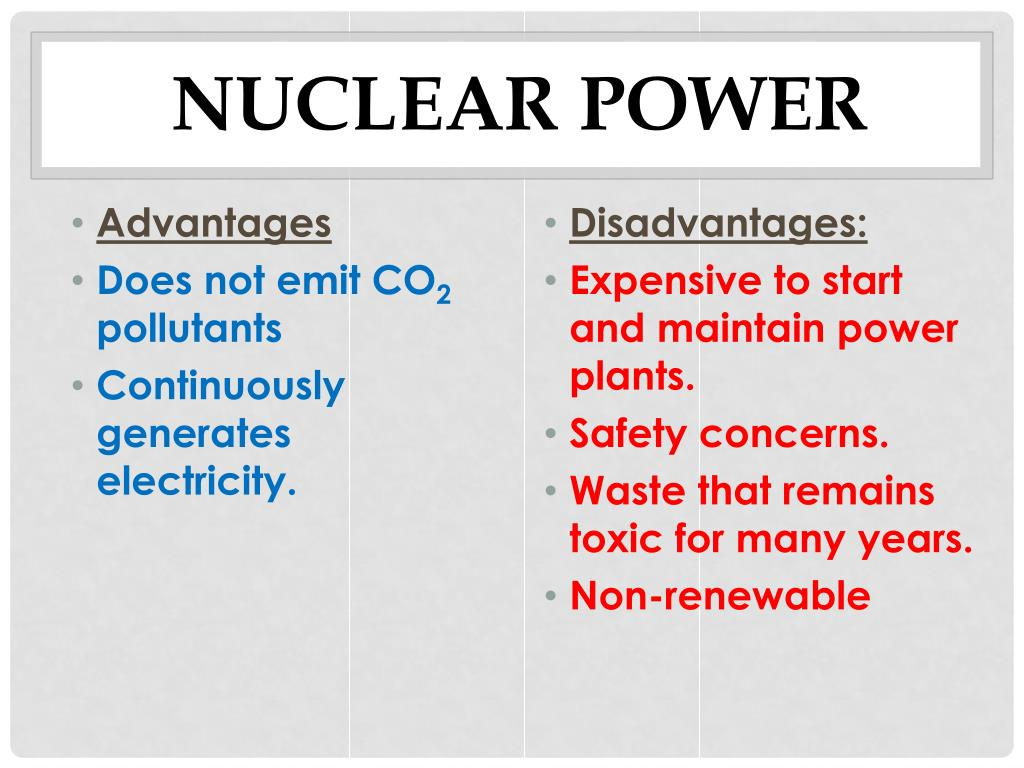 advantages of nuclear energy class 10