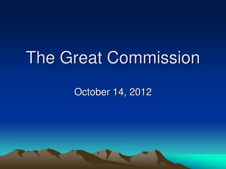 the great commission n.