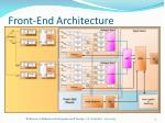 front end architecture