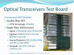 optical transceivers test board