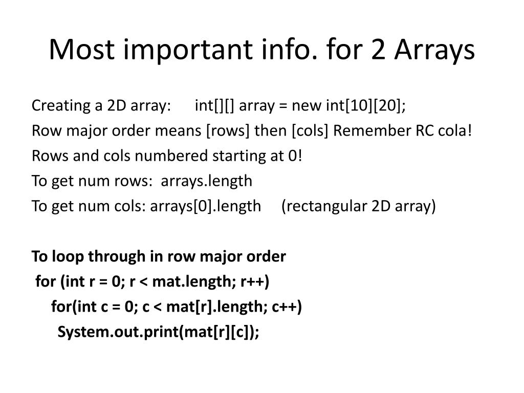 PPT - One Dimensional Arrays PowerPoint Presentation - ID:2928747