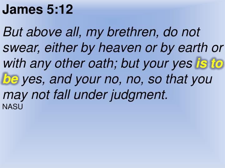 James 5:12