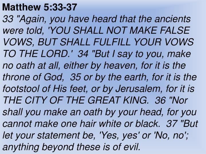 Matthew 5:33-37
