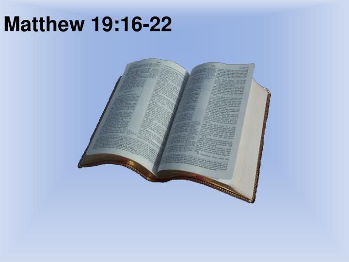 Matthew 19:16-22