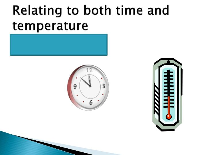 Relating to both time and temperature