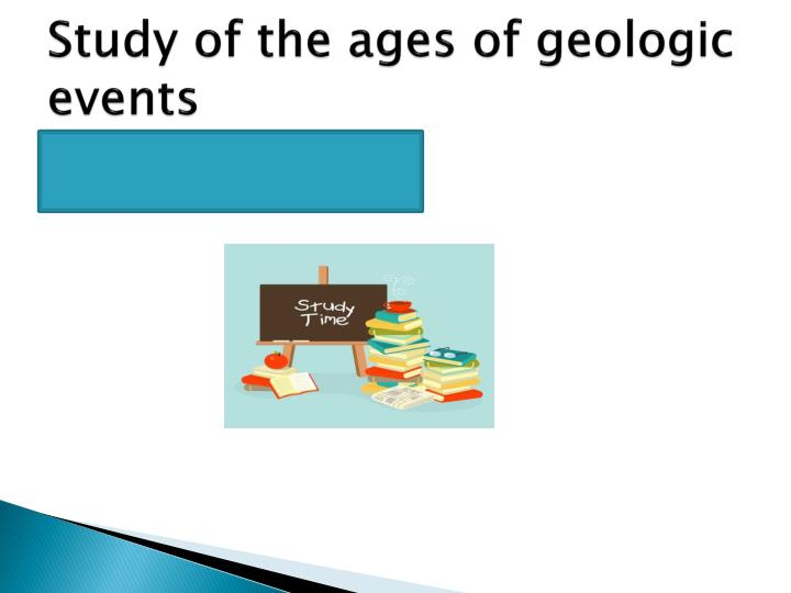 Study of the ages of geologic events