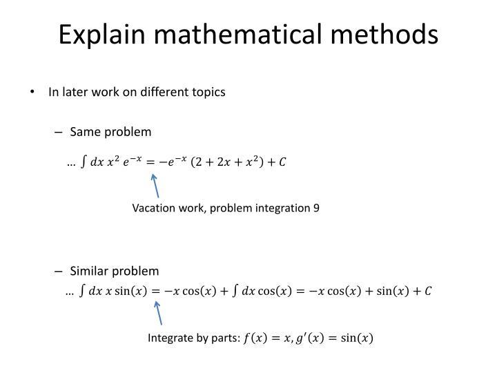 Explain mathematical methods1