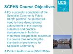 scphn course objectives