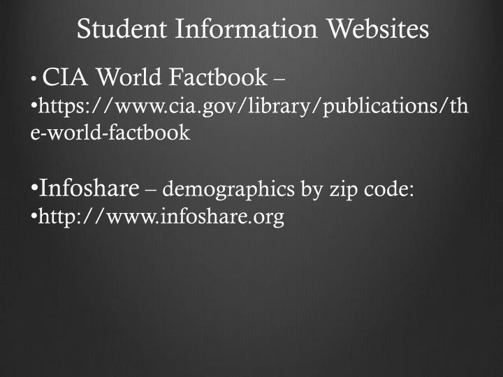 Student Information Websites