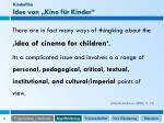 kinderfilm idee von kino f r kinder