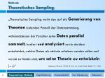 methode theoretisches sampling