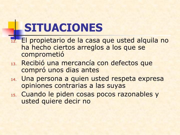 SITUACIONES