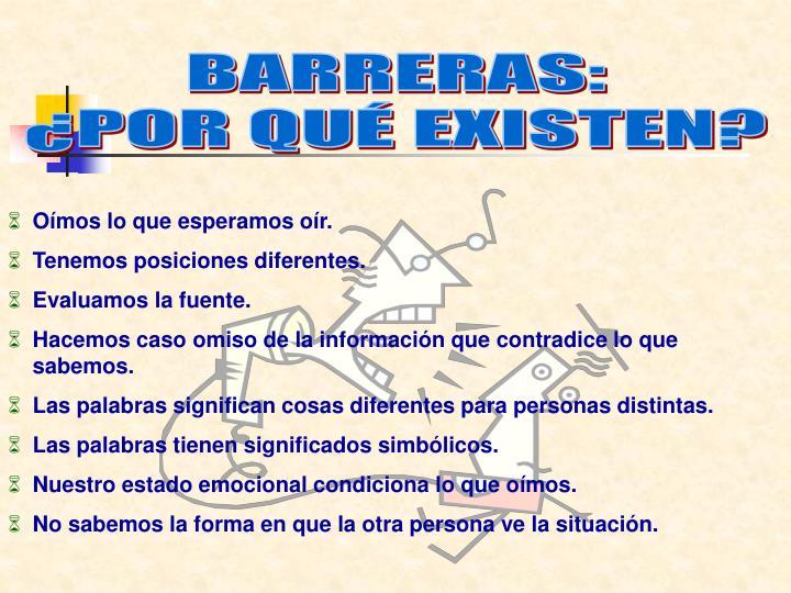 BARRERAS: