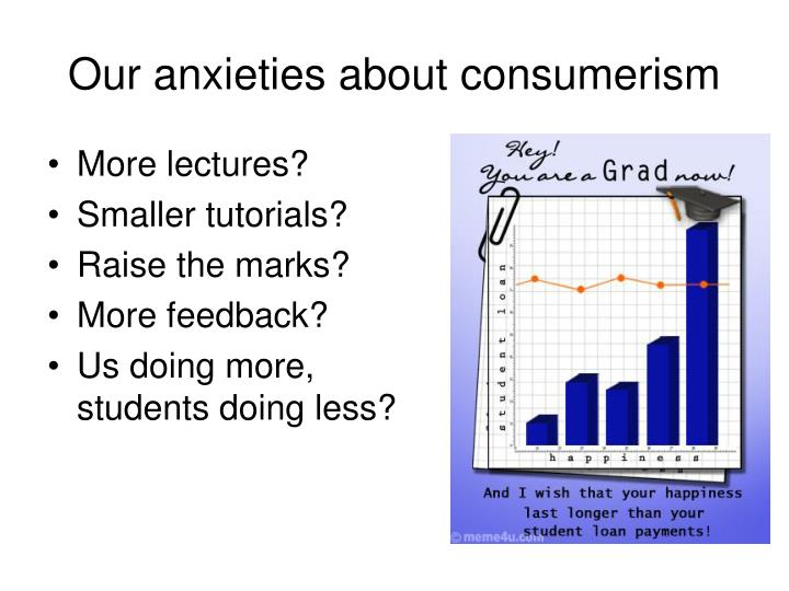Our anxieties about consumerism