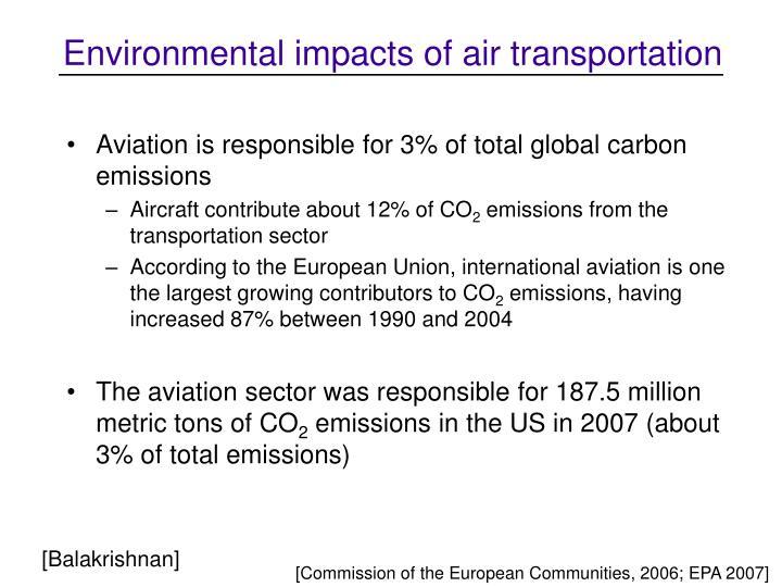 Environmental impacts of air transportation