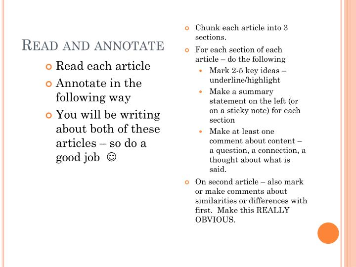 read and annotate n.