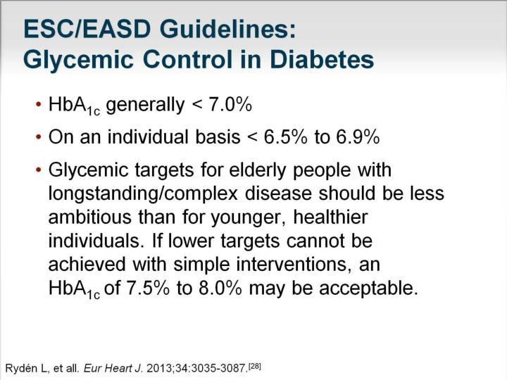 ESC/EASD Guidelines: