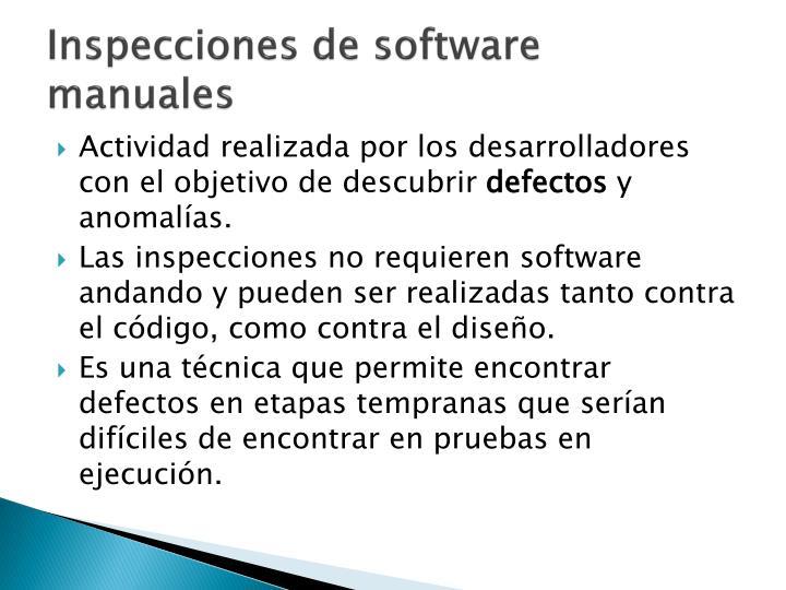 Inspecciones de software manuales