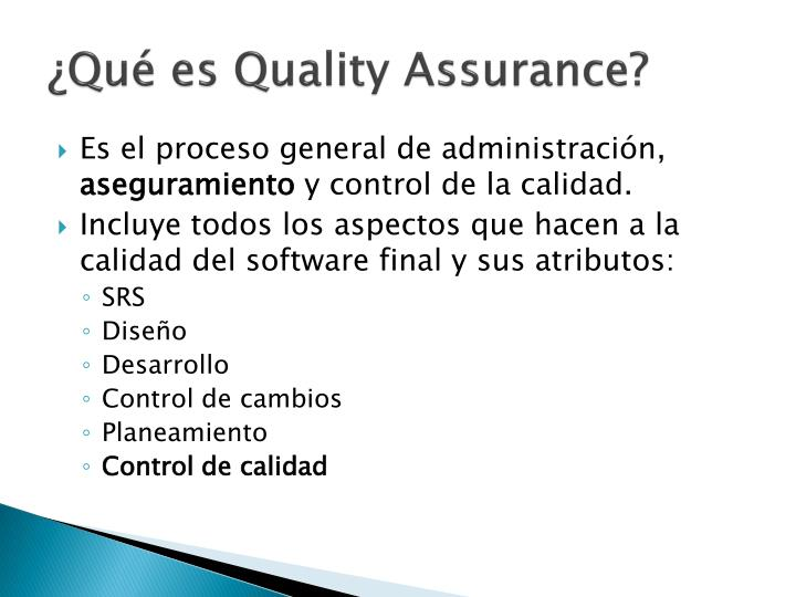 Qu es quality assurance