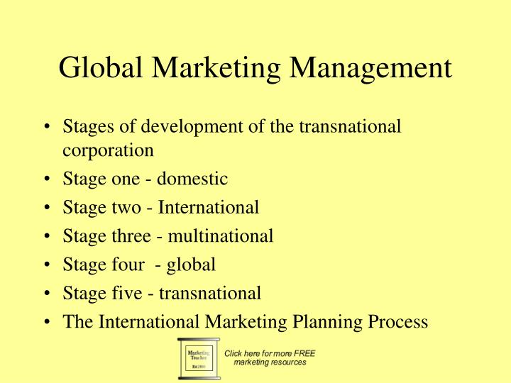 four stages of globalization