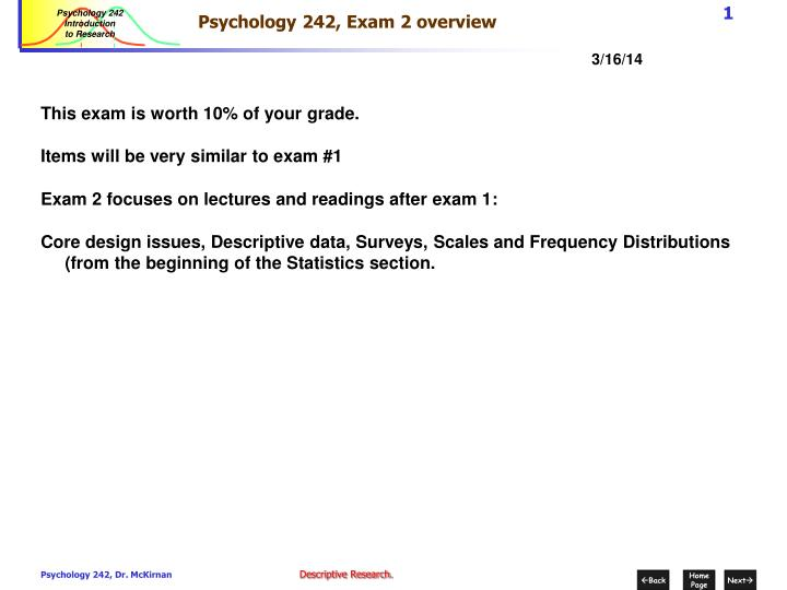 psychology 242 exam 2 overview n.