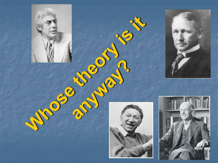 whose theory is it anyway n.