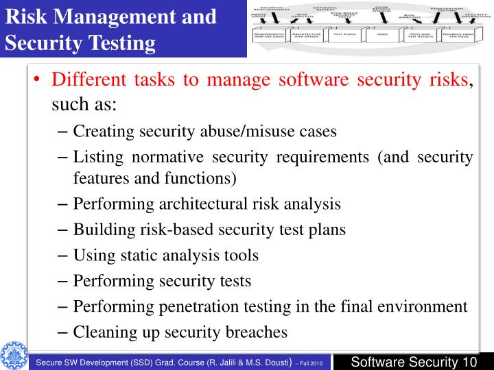 Risk Management and Security Testing