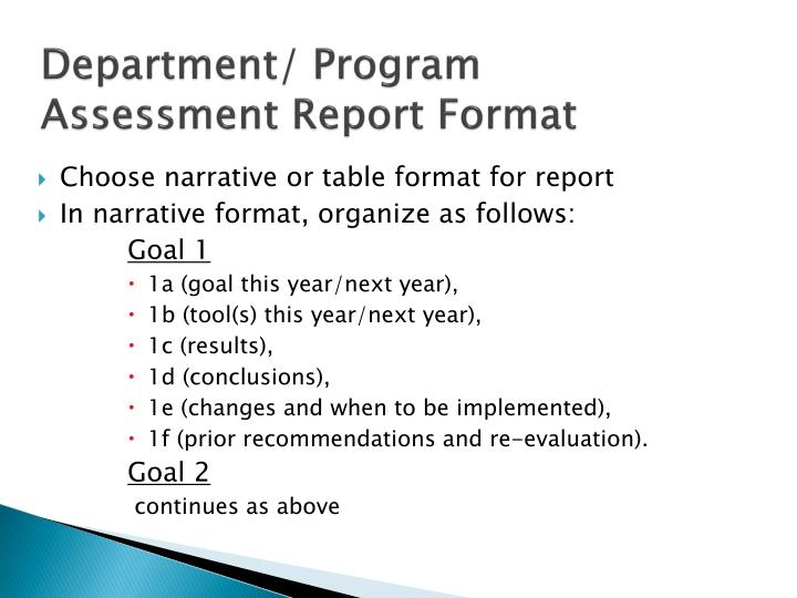 Ppt  Departmental Assessment Powerpoint Presentation  Id