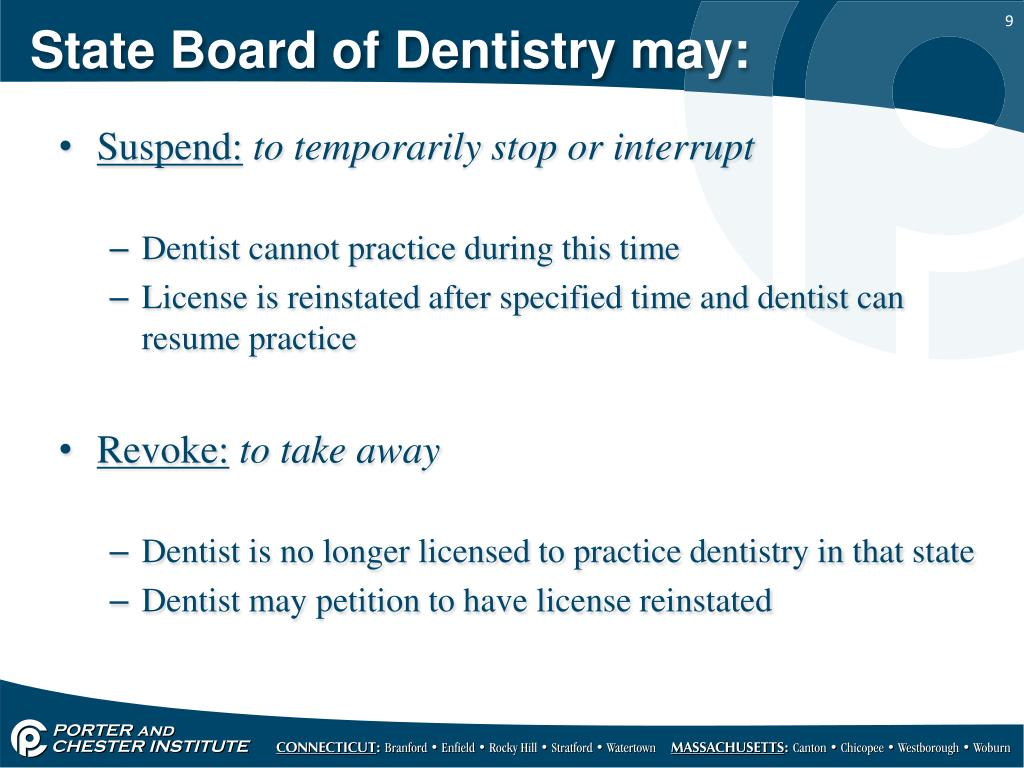 PPT - The State Regulation of Dentistry PowerPoint